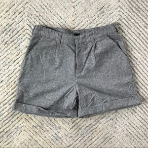 Urban Outfitters Grey Wool High-waisted Shorts